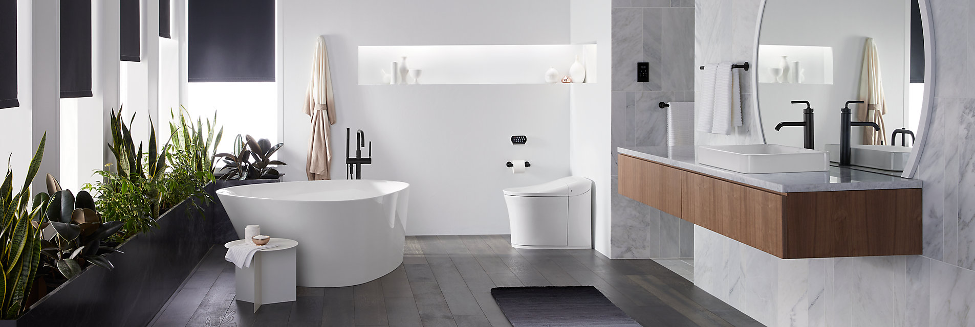 Kohler bathroom with freestanding tub